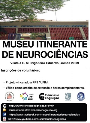 """Chamada de voluntários para """"Dia do Cérebro"""" – Escola Municipal Brigadeiro Eduardo Gomes – 20/09/2019 (sexta-feira)"""