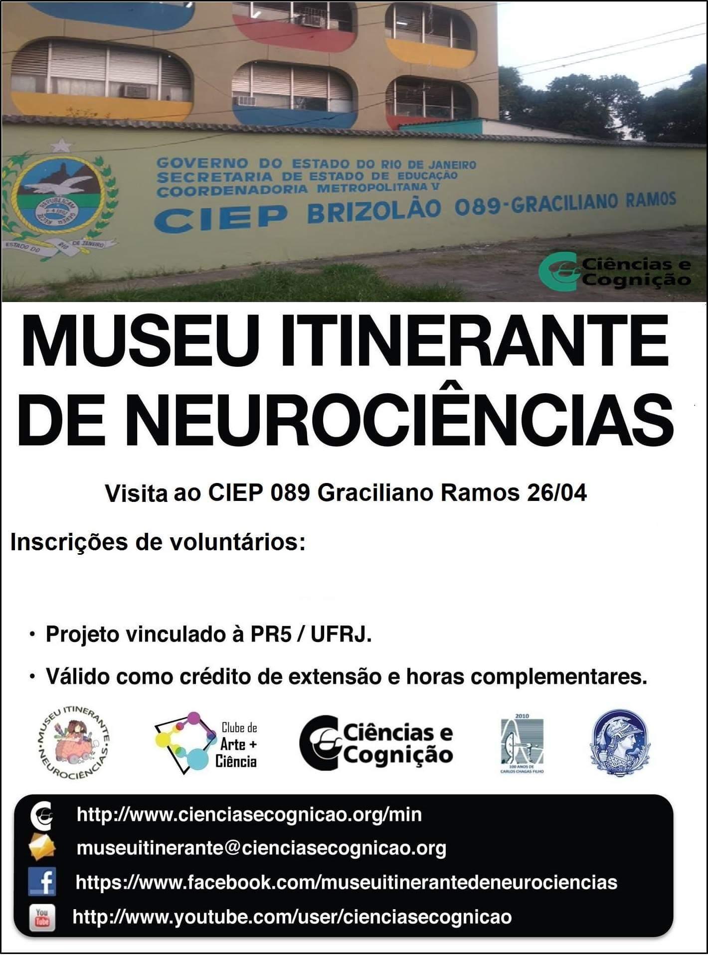 Seja voluntário em ações do Museu Itinerante de Neurociências (MIN)