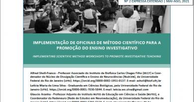 Implementação de oficinas de método científico para a promoção do ensino investigativo