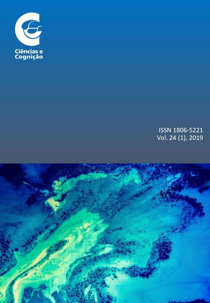 capa do volume 24(1), de 2019, da revista científica Ciências & Cognição