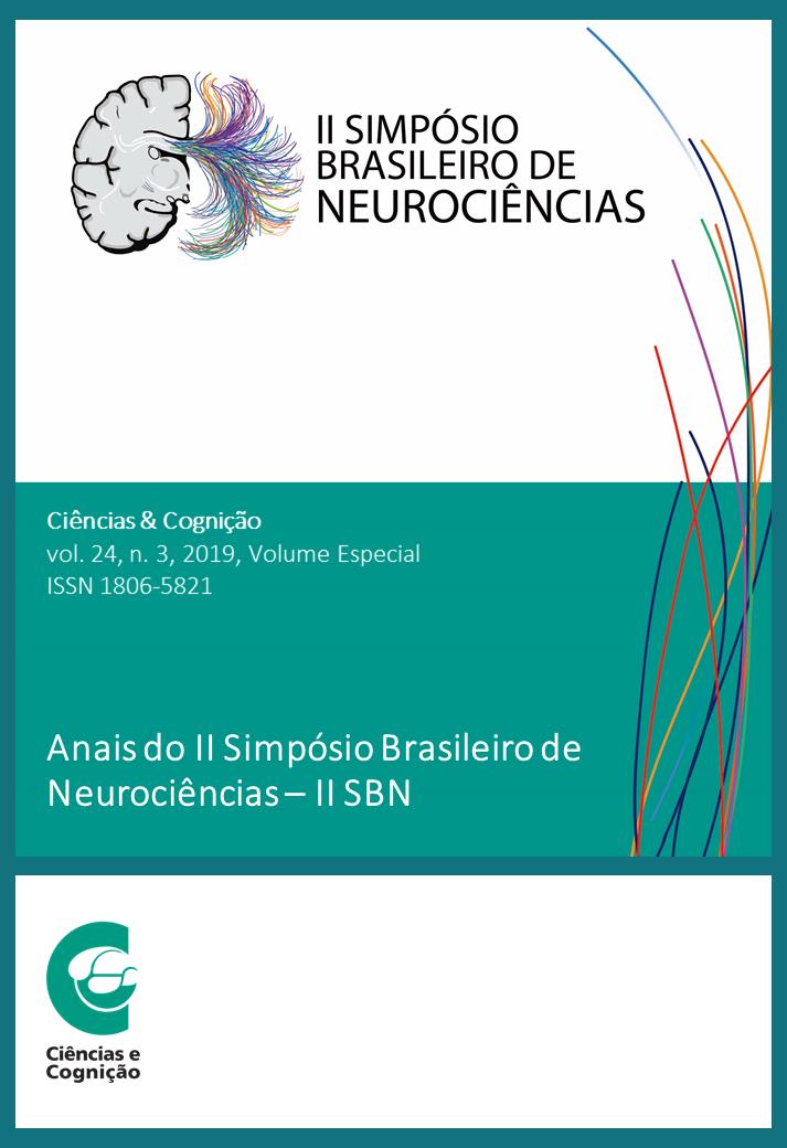 Capa da revista Ciências & Cognição, volume 24, fascículo 3, de 2019.